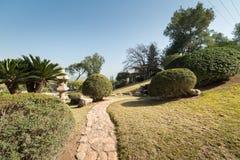 Ιαπωνικός κήπος σε Kibbutz Hephzibah Στοκ Εικόνες