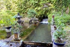 Ιαπωνικός κήπος στη φυτεία μπαμπού Anduze Στοκ Εικόνες