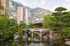 Ιαπωνικός κήπος στο Μόντε Κάρλο στοκ εικόνες