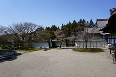 Ιαπωνικός κήπος στο ναό Daigoji, Κιότο Στοκ Φωτογραφία