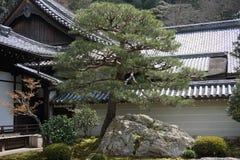 Ιαπωνικός κήπος στο ναό Nanjenji, Κιότο Στοκ φωτογραφία με δικαίωμα ελεύθερης χρήσης