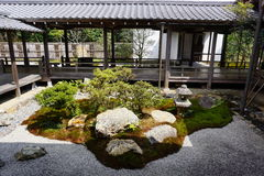 Ιαπωνικός κήπος στο ναό Nanjenji, Κιότο Στοκ Φωτογραφία