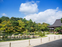 Ιαπωνικός κήπος στο ναό Tenryuji Στοκ Φωτογραφία