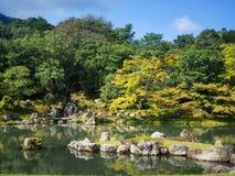 Ιαπωνικός κήπος στο ναό Tenryuji Στοκ Εικόνα