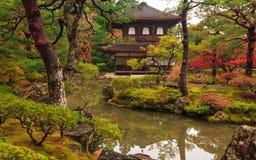 Ιαπωνικός κήπος φθινοπώρου με το σφένδαμνο στο Κιότο Στοκ εικόνες με δικαίωμα ελεύθερης χρήσης