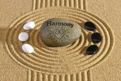 Ιαπωνικός κήπος zen με τη σύσταση στην άμμο στοκ εικόνες με δικαίωμα ελεύθερης χρήσης