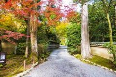 Ιαπωνικός κήπος zen, φθινόπωρο Κιότο Στοκ Εικόνες