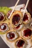 Ιαπωνικός καυτός ρόλος τροφίμων Στοκ εικόνα με δικαίωμα ελεύθερης χρήσης