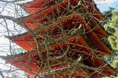 Ιαπωνικός ναός στον ιαπωνικό κήπο τσαγιού στοκ εικόνες