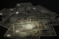 Ιαπωνικός λογαριασμός γεν Στοκ Φωτογραφία