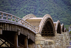 ιαπωνικός παλαιός γεφυρώ& Στοκ Φωτογραφία
