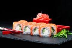 ιαπωνικός παραδοσιακός κουζίνας Εκλεκτική εστίαση στη Φιλαδέλφεια SU Στοκ εικόνα με δικαίωμα ελεύθερης χρήσης