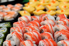 Ιαπωνικός παραδοσιακός εύγευστος σουσιών - ιαπωνικά τρόφιμα Στοκ Εικόνα