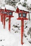 Ιαπωνικός παραδοσιακός πόλος φωτεινών σηματοδοτών Στοκ φωτογραφίες με δικαίωμα ελεύθερης χρήσης