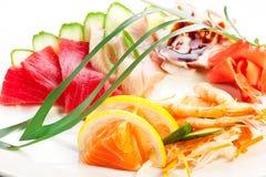 ιαπωνικός παραδοσιακός τροφίμων ακατέργαστα θαλασσινά Στοκ Εικόνες