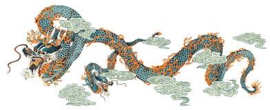Ιαπωνικός δράκος ελεύθερη απεικόνιση δικαιώματος