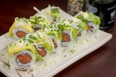 Ιαπωνικός ρόλος αβοκάντο τροφίμων Στοκ Εικόνες