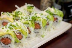 Ιαπωνικός ρόλος αβοκάντο τροφίμων Στοκ φωτογραφίες με δικαίωμα ελεύθερης χρήσης