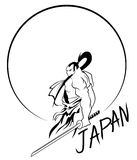 ιαπωνικός Σαμουράι διανυσματική απεικόνιση
