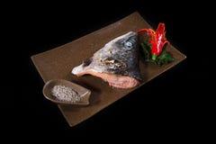 Ιαπωνικός σολομός τροφίμων Στοκ Φωτογραφία