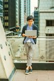 Ιαπωνικός φοιτητής πανεπιστημίου που μελετά στη Νέα Υόρκη Στοκ Εικόνες