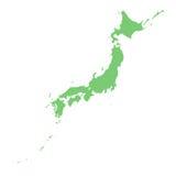 ιαπωνικός χάρτης Στοκ εικόνες με δικαίωμα ελεύθερης χρήσης