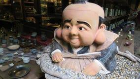 Ιαπωνικό άγαλμα σε Arashiyama, Κιότο Στοκ φωτογραφία με δικαίωμα ελεύθερης χρήσης