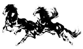 Ιαπωνικό άλογο Στοκ φωτογραφία με δικαίωμα ελεύθερης χρήσης