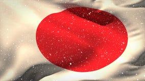Ιαπωνικό βίντεο σημαιών απόθεμα βίντεο