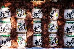 Ιαπωνικό βαρέλι κρασιού ρυζιού χάρης Στοκ Εικόνες