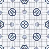 Ιαπωνικό γεωμετρικό άνευ ραφής σχέδιο Στοκ Εικόνες