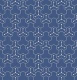 Ιαπωνικό γεωμετρικό άνευ ραφής σχέδιο Στοκ Φωτογραφίες
