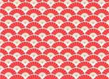 Ιαπωνικό και κινεζικό άνευ ραφής σχέδιο ανεμιστήρων Στοκ Φωτογραφίες