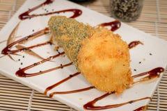 Ιαπωνικό καυτό temaki τροφίμων Στοκ φωτογραφία με δικαίωμα ελεύθερης χρήσης