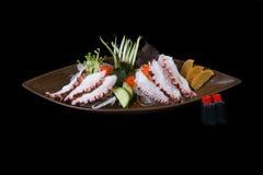Ιαπωνικό καλαμάρι σουσιών στοκ εικόνα