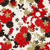 Ιαπωνικό κλασικό floral άνευ ραφής σχέδιο Στοκ Φωτογραφίες