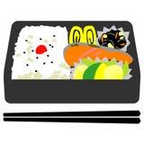 Ιαπωνικό μεσημεριανό γεύμα κιβωτίων απεικόνιση αποθεμάτων