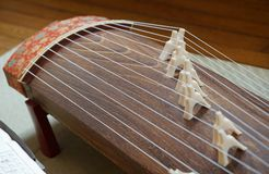 Ιαπωνικό μουσικό όργανο στοκ φωτογραφίες