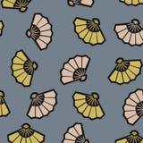 Ιαπωνικό μπλε σχέδιο ανεμιστήρων Στοκ φωτογραφία με δικαίωμα ελεύθερης χρήσης