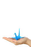 Ιαπωνικό μπλε πουλί εγγράφου της τύχης Στοκ φωτογραφία με δικαίωμα ελεύθερης χρήσης