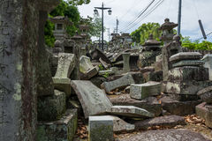 Ιαπωνικό νεκροταφείο σε Kumamoto στοκ φωτογραφία με δικαίωμα ελεύθερης χρήσης