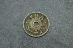 Ιαπωνικό νόμισμα 10 Sen στοκ εικόνες