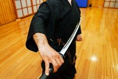ιαπωνικό ξίφος katana Στοκ Φωτογραφίες