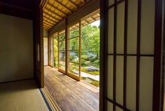 ιαπωνικό παλαιό tatami shoji δωματίων Στοκ Φωτογραφίες