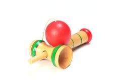 Ιαπωνικό παραδοσιακό παιχνίδι - kendama Στοκ εικόνα με δικαίωμα ελεύθερης χρήσης