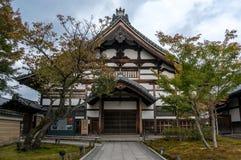 Ιαπωνικό περίπτερο στο ναό Kiyomizu Στοκ φωτογραφία με δικαίωμα ελεύθερης χρήσης