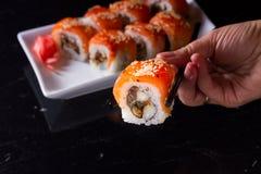 Ιαπωνικό πιάτο σουσιών Στοκ Φωτογραφίες