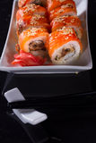 Ιαπωνικό πιάτο σουσιών Στοκ εικόνα με δικαίωμα ελεύθερης χρήσης