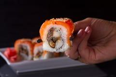 Ιαπωνικό πιάτο σουσιών Στοκ Φωτογραφία