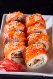 Ιαπωνικό πιάτο σουσιών Στοκ εικόνες με δικαίωμα ελεύθερης χρήσης